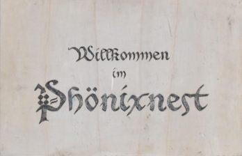 """Schild der Taverne """"Das Phönixnest"""""""
