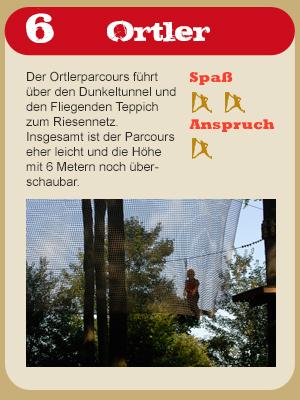Hochseilgarten Parkours Ortler