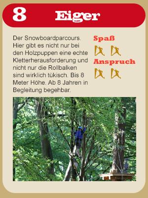 Hochseilgarten Parkours Eiger