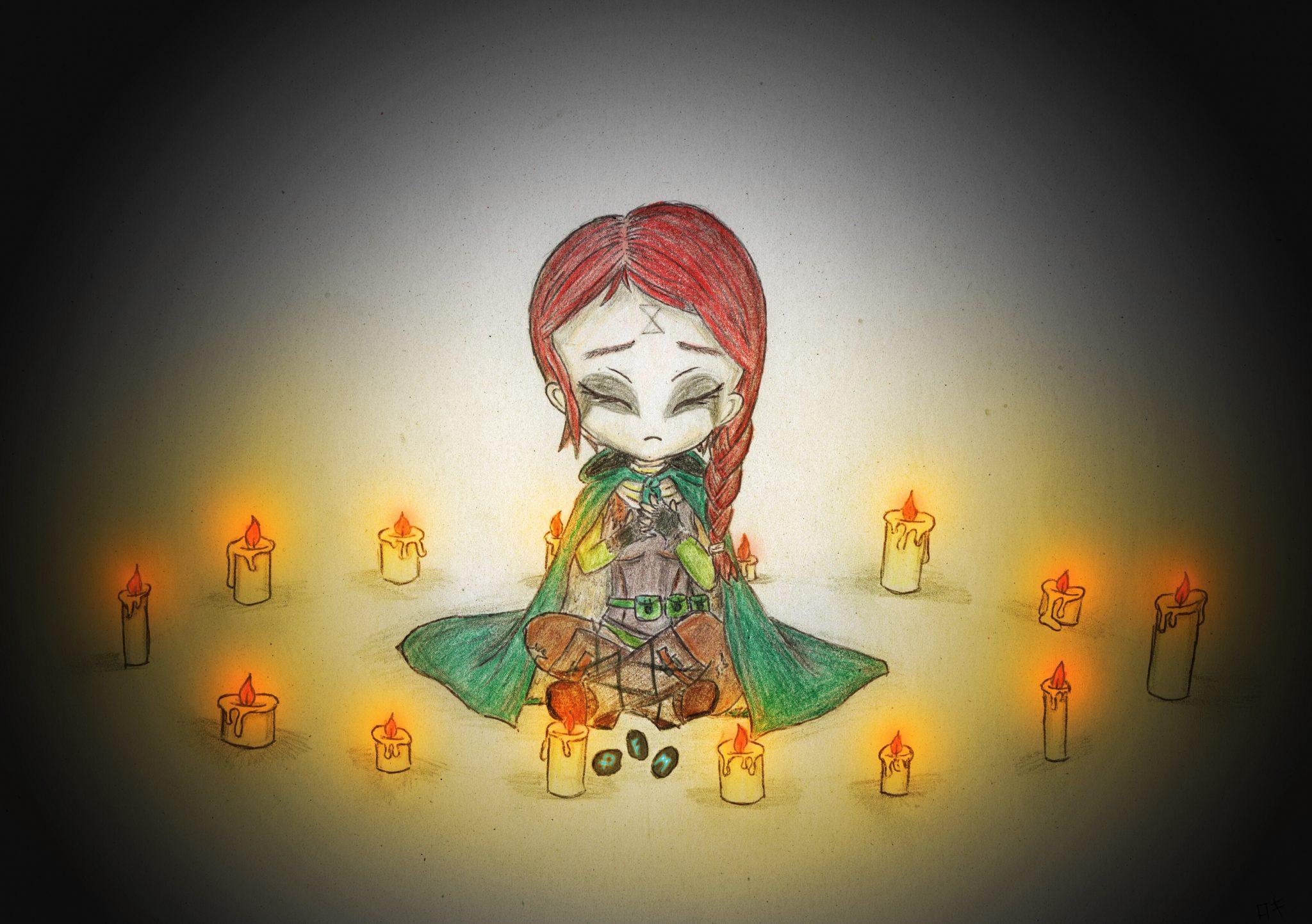 Anastasya feiert Samhain