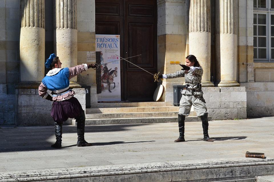 Duell mit dem Schwertmeister