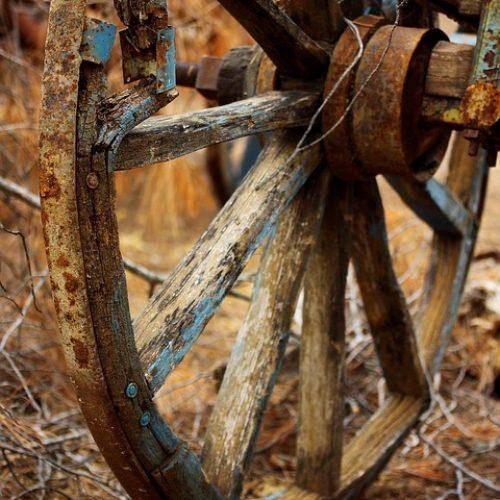 Holzrad Kutsche Rad